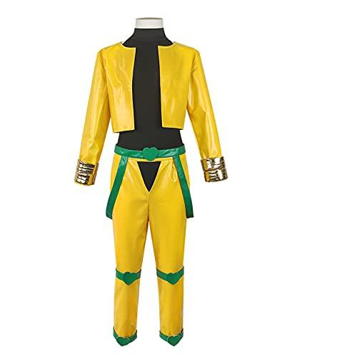 GNZY Bizarre Adventure DIO Brando Anime Disfraz de Cosplay Disfraz de Halloween Vestido Disfraz de Anime para Adultos El Conjunto de 5 Piezas Incluye Abrigo + Pantalones + Ropa + Accesorios + Pulsera
