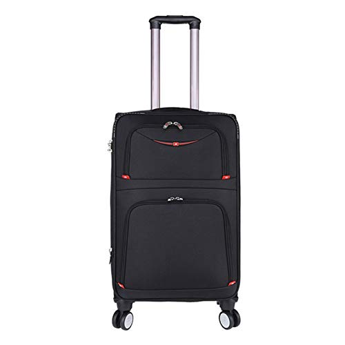 Adlereyire Trolley Suitcase Lightweight Durable Carry On Cabin Hand Luggage Set, Travel Bag with 4 Wheels (Color : Black, Size : 40 * 25 * 69cm)