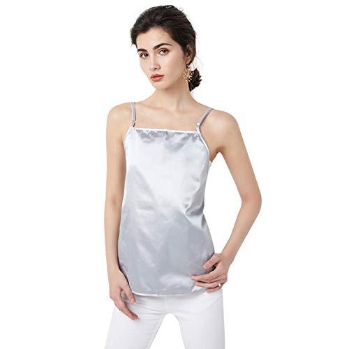 CEXTT Mujeres Embarazadas Traje Anti-Radiación Mujeres Embarazadas Traje de radiación Anti-electromagnética Nano Fibra de Metal Señoras Sling Falda Diseño, Tres Pisos (Color : Triple Layer)
