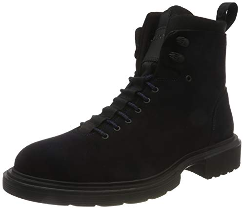 HUGO Herren Dart_Halb_sdneo Mode-Stiefel, Dark Blue401, 43 EU