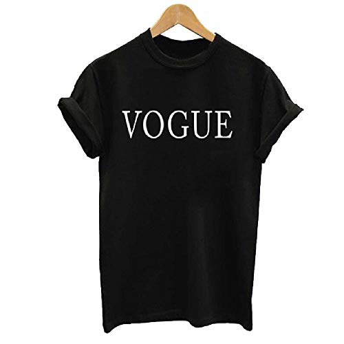 Camiseta Talla Grande S-XXL CamisetaEstampada Vogue para Mujer Camisetas de Mujer Camisetas Casuales para Mujer