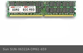 DMS Compatible/Replacement for Sun X6322A Fire X4140 4GB DMS Certified Memory DDR2-667 (PC2-5300) 512x72 CL5 1.8v 240 Pin ECC/Reg. DIMM Dual Rank - DMS