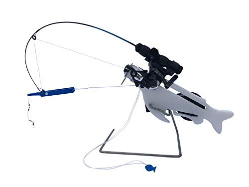 Catch-On Automatic Jigging Rod Holder for Ice Fishing Plus Easy Set Hooksetter, Ice Fishing Combo Gear & Equipment, Fishing Accessories for Men & Women