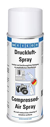WEICON Spray Aire Comprimido, 400 ml, Limpiador de aire comprimido para PC , portátil, ventilador, móvil smartphone