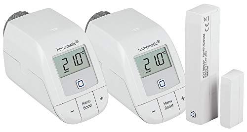Homematic IP Erweiterungsset (Basic) mit zwei Heizkörperthermostaten (Basic) und einem Tür/Fensterkontakt