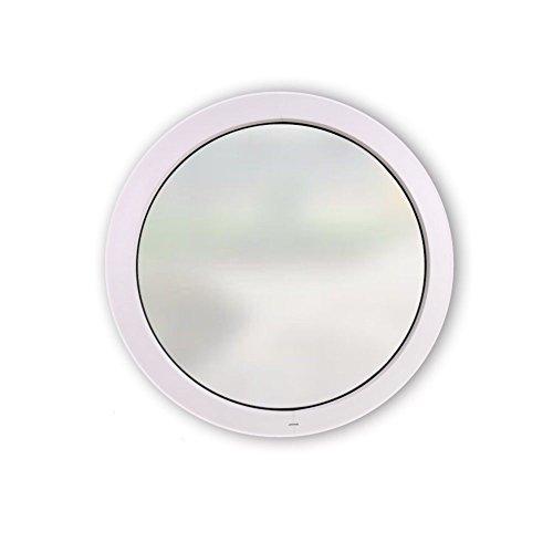 Rundfenster - Festelement Satinato Milchglas - 3-Fach Verglasung - 70 mm Rahmenprofil - Ø: 820 mm