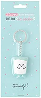 Mr. Wonderful Llavero Vaso Personas Que Son la Leche, Multicolor, 6x7 cm