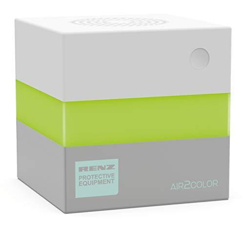 Renz AIR2COLOR; CO2-Ampel, CO2-Messgerät, Made in Germany mit hochwertigem NDIR-Sensor, 10 x 10 x 10 cm