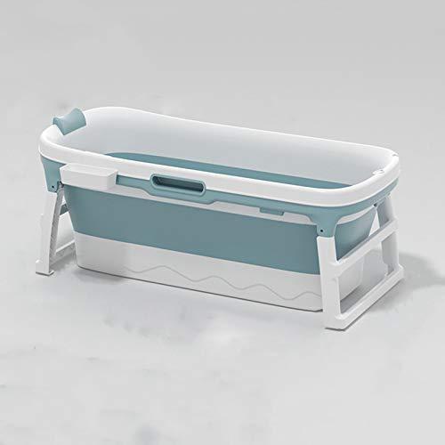 BAO Cuarto de baño Plegable, Adulto, baño Adulto, Aseo, bañera de plástico Grande para niños, baño Privado para niños, 138 * 63 * 52cm,Azul