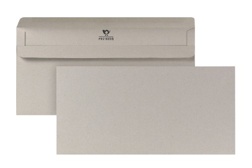 POSTHORN Briefumschläge Din Lang (110x220mm) selbstklebend recy grau 75g 1000 Stück