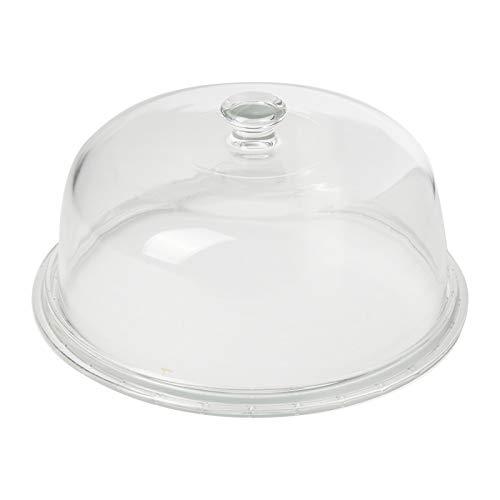 Borgonovo Plato Tarta Cristal con Tapa Molde Palladio cm 31para Alimentos Lavables en lavavajillas Cristal Transparente