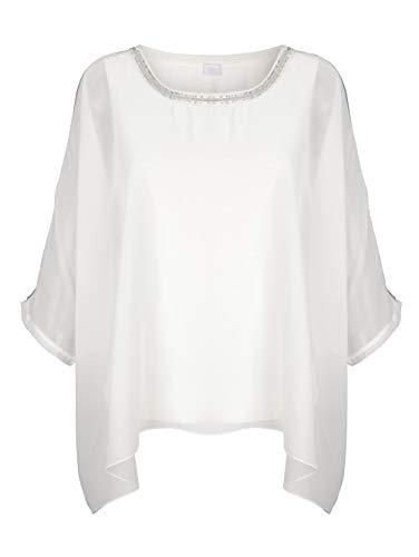 Alba Moda Damen Bluse Off-White 34 Viskose