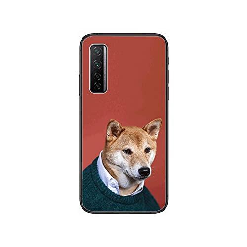 Perro de moda personalidad creativa niños teléfono caso para Huawei Nova 2 3 4 5 6 7 8 SE i E Pro Lite negro Etui Coque pintura hoesje-1-Huawei Nova 6 4G