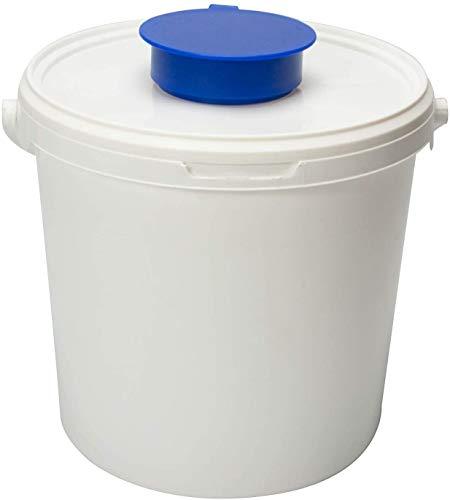 Spendereimer Weiß   6,2 L   für alle Vliestuchrollen geeignet   transparenter Deckel + aufgesetzter Feuchttuchentnahme   Ideal für Hygienebereiche - wie Medizin, Praxen