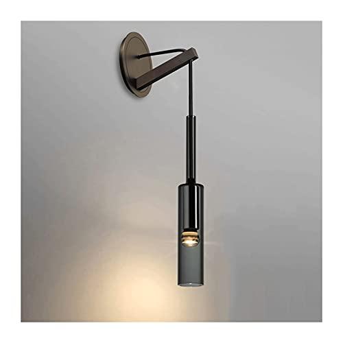 Aplique de Pared Luz colgante colgante moderna Luz colgante ajustable con material de iluminación colgante de sombra de cristal para la barra de comedor de la isla de la cocina Lámpara de pared