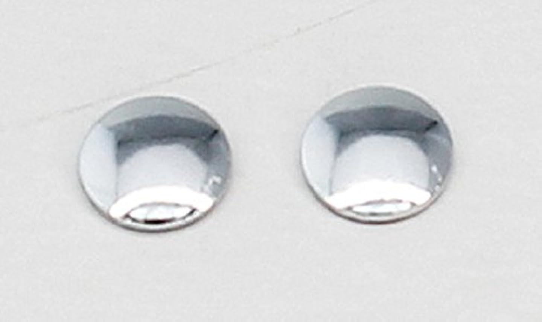 10489 Hotfix(ホットフィックス) メタルスタッズ 丸形 4mm 50粒 スワロフスキー/シルバー
