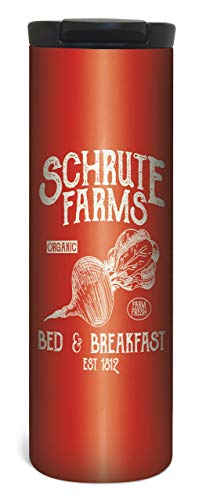Schrute Farms Travel Mug  17 Ounce Double Wall Vacuum Insulated Stainless Steel