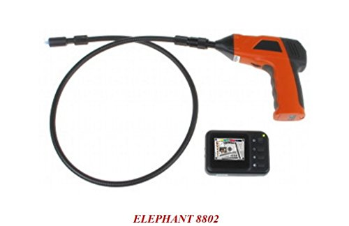 Camtronics Elephant 8802, Cámara Endoscópica Vía Radio, con Monitor 2.5', 704 X 576 Píxeles, Ángulo Visión 50 º, Baterías, Cable 1.15 M