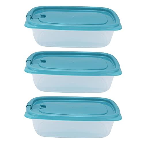 Jopwkuin Recipientes de Almacenamiento de Alimentos, recipientes de Almacenamiento de Alimentos con Tapas herméticas Transparentes con Material PP para microondas para refrigerador