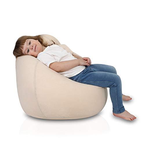 Ecopuf Mini Sitzsack für Kinder aus Plüsch-Mikrofaser - Kindersitzsack mit Tragegriff - 52x80cm