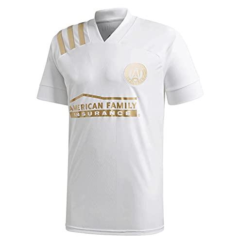 TEZAI 20-21Season Hombres para Hombre Camisetas para Deportes de Adultos Atlanta Home Court, Away Juego, Camisetas Partidarios Jersey Football Regalo White-XL