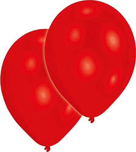 amscan Lot de 10 Ballons de baudruche Rouge 27,5cm