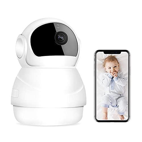 SaponinTree Cámara Vigilancia WiFi Interior, 1080P Cámara IP WiFi con Visión Noturna,...