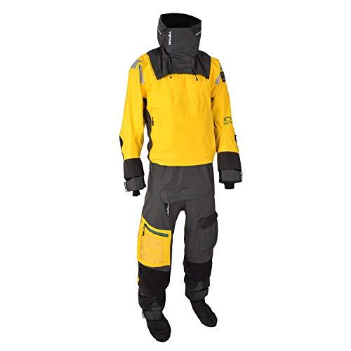 Typhoon Mens PS440 Hinge-Eintrag Drysuit Dry Suit - Gelb Grau - wasserdichte Spritzwasser - wasserdicht und atmungs