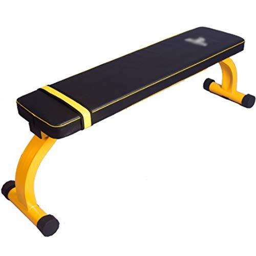 YHRJ Trainingsbank Multifunktionaler Klappbarer Langhantelhocker,Heimgewicht Bankdrücken Bank,Muskeltraining Fitnessgeräte,Können 300 Kg Laden (Color : Black+Yellow, Size : 140 * 35 * 43cm)