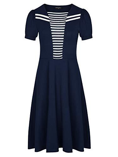 Vive Maria AHOI Colette Dress Blue, Größe:L