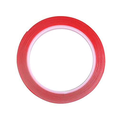 LJGFH Fournitures de Bureau Autocollant de Ruban adhésif Double Face de Silicone Transparent 700cm pour Voiture Haute résistance Forte sans Traces Autocollants adhésifs en Mousse Acrylique Durable