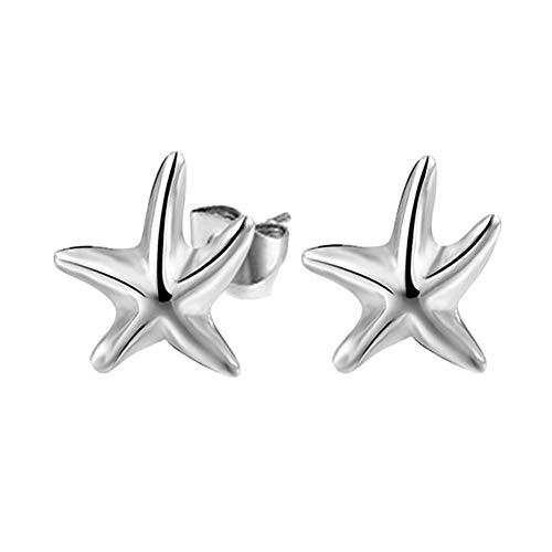 Rysmliuhan Shop Estrella de mar Pendientes Pendientes de la Chica Hipoalergénico Pendientes Seguro Pendiente Pendientes Elegantes Prácticas Pendientes
