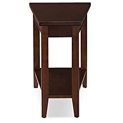 wedge shaped end table with drawer