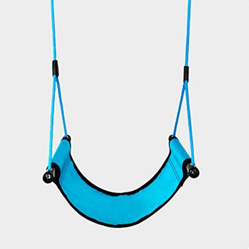 FOGUO Asiento de Columpio con Cinturón Flexible para Niños para Niños y Adultos, Sling Wrap Around Swing Seat para Juegos de Columpios,Carga Máxima 300 Kg Columpio para niños,Blue