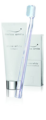 Swiss Smile Snow White Toothpaste + Toothbrush, 75 ml