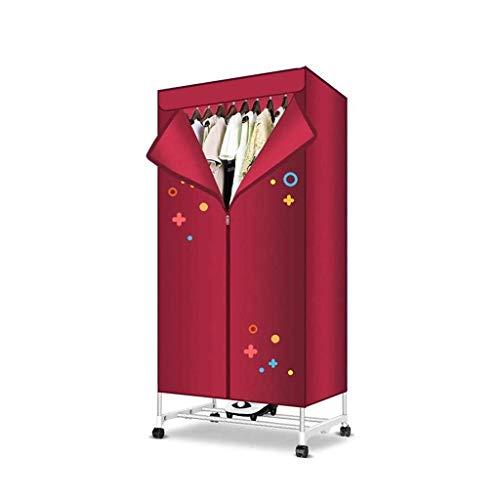 CAIJINJIN Perchas Airers calienta la ropa interior de secado Secadora Armario eléctrico 1000W portátil secado rápido Funcionamiento silencioso de gran capacidad de espacio con temporizador automático
