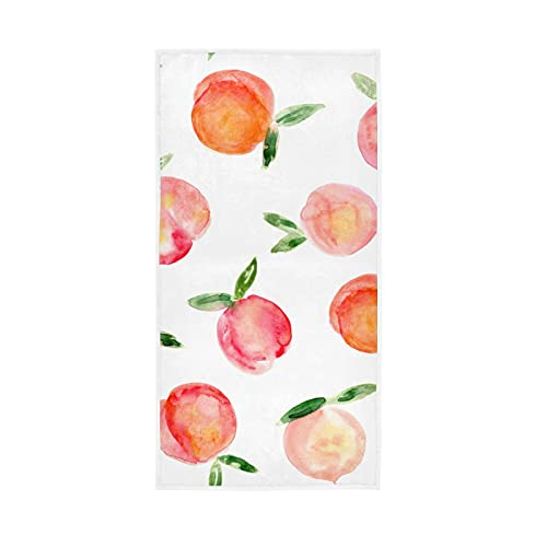 Peaches Painted Fruit Towel