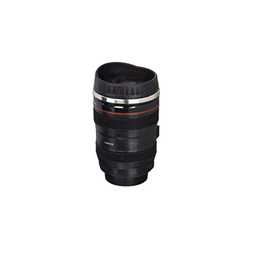 MaylFre Kaffeetasse Edelstahl Thermobecher Kamera-Objektiv-Shaped Travel Thermos Mit Easy Clean Deckel