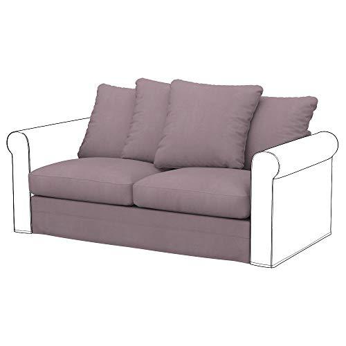 Soferia Funda de Repuesto para IKEA GRONLID módulos sofá Cama de 2 plazas, Tela Eco Leather Stone, Gris