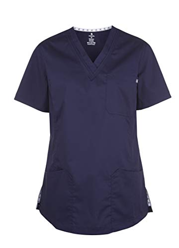MEDANTA Sulo Damen Kasack Dunkelblau L - medizinische Berufsbekleidung, Pflege, Kosmetik Kittel, OP Kleidung