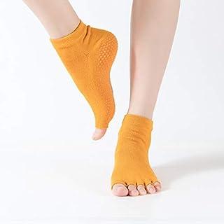 SGJFZD 3pairs/Set Ladies Professional Non-Slip Peep-Toe Yoga Socks Five-Finger Socks Dance Socks Rubber Socks Sports Socks, Color Random Send (Color : Random)
