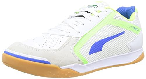 Puma IBERO II, Zapatillas de fútbol Sala Unisex Adulto, White Bluemazing Gre, 39 EU