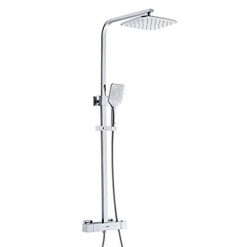 Lonheo thermostaat douchesysteem in hoogte verstelbare douchearmatuur incl. handdouche, regendouche, douchestang