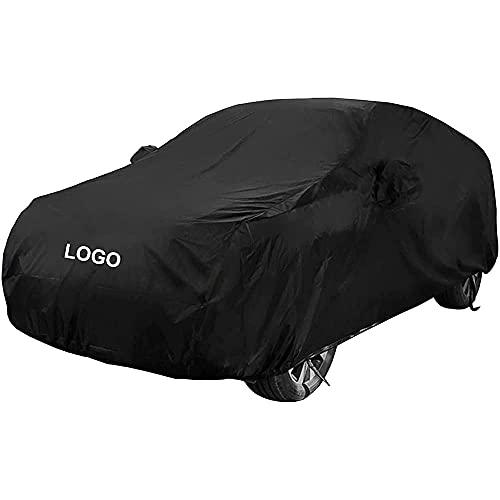 YMYGCC Cubierta del Coche con el Logo del Coche para Volvo XC60 SUV, Anti-UV Transpirable Resistente al Viento, Cubierta para Coche Exterior, Garaje Coche Exterior