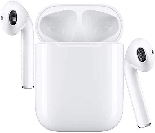 Cuffie Bluetooth,Auricolare Wireless in-Ear, Cuffie Stereo 3D Sportive, con Scatola di Ricarica 24 Ore e Associazione Automatica del Microfono Integrato per Samsung/Huawei/iPhone/Android