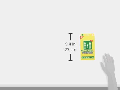 TravelJohn Unisex Disposable Urinal Pack of 6