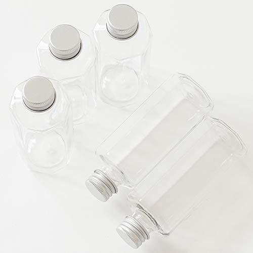 手作り工房 MY mama プラスチック 八角形型 クリア ボトル 95ml 5個入り ミニ ハーバリウム ミニボトル容器