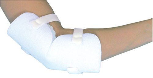 DMI Elbow Protectors with Hook and Loop Adjustment, Hand-Washable Polyester Fabric, One Size Fits Most, One Pair