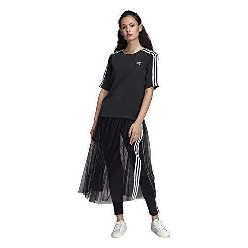 adidas T-Shirt 3-Stripes Nera da Donna DX3695
