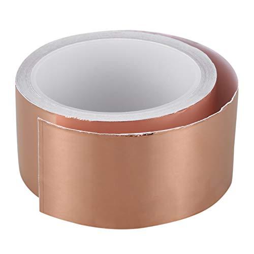 Kupfer Klebeband - SODIAL(R) 50mmx10M EMI Kupfer Klebeband Kupferfolie Kupferband Selbstklebend Band Rolle